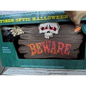 Gemmy fiber optic Halloween sign sound light bewar